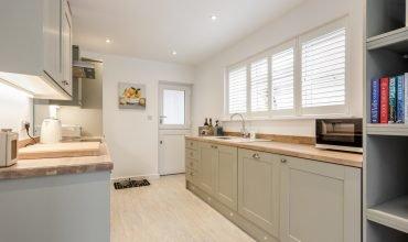 Mudeford Beach Cottage Kitchen Area
